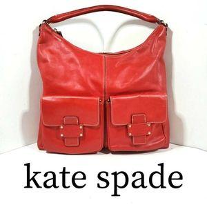 Kate Spade Flat Serena Narragansett Red Hobo